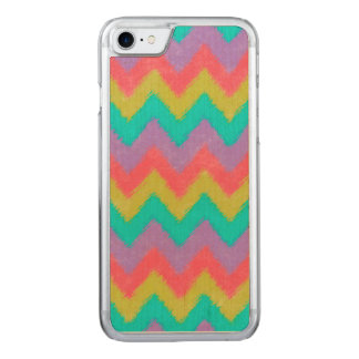 Girly Rainbow Bohemian Chevron Pattern Carved iPhone 8/7 Case
