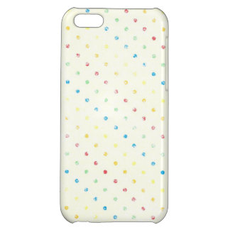 Girly Rainbow Dots Vintage Rustic Yellow Polka dot Case For iPhone 5C