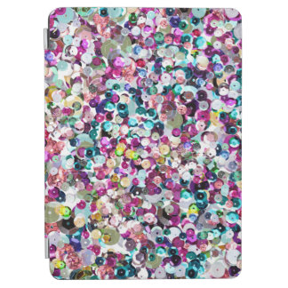 Girly Rainbow Faux Sequins Bling iPad Pro Cover