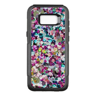 Girly Rainbow Faux Sequins Bling OtterBox Commuter Samsung Galaxy S8+ Case