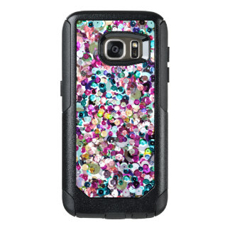 Girly Rainbow Faux Sequins Bling OtterBox Samsung Galaxy S7 Case