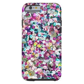 Girly Rainbow Faux Sequins Bling Tough iPhone 6 Case