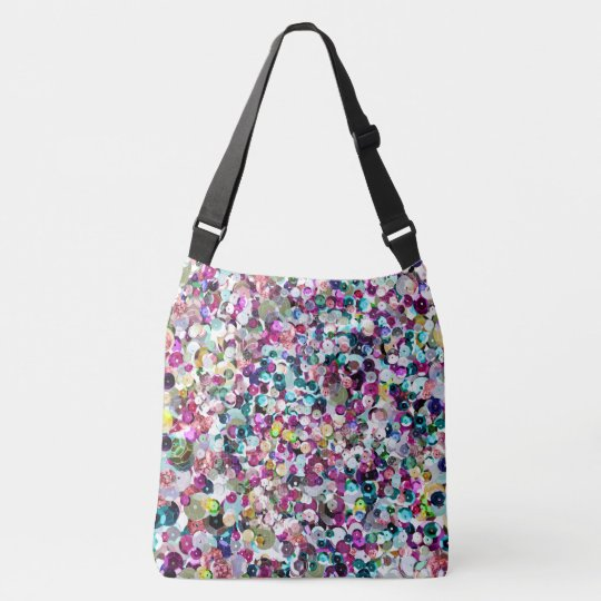 Girly Rainbow Faux Sequins Crossbody Bag