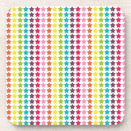 Girly Rainbow Stars Coasters