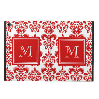 GIRLY RED DAMASK PATTERN 2 YOUR INITIAL