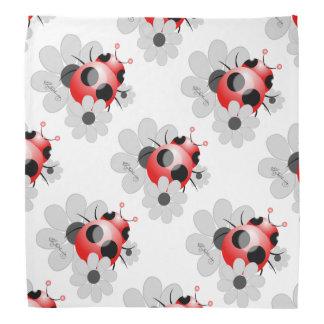 Girly Red Ladybug Bandana