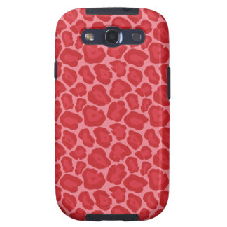 Girly Red Leopard Pattern Galaxy S3 Covers