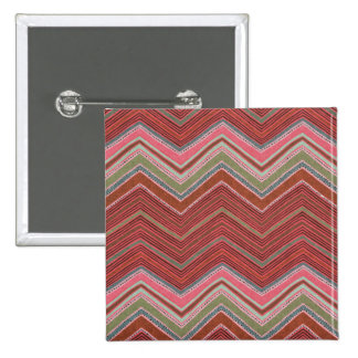 Girly Red Pink Zigzag Pattern Pins
