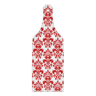 Girly Red White Vintage Damask Pattern 2 Cutting Board