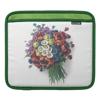 Girly Retro Colorful Vintage Wedding Floral Flower iPad Sleeves