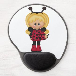 Girly Retro Ladybug Gel Mouse Pads