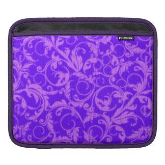 Girly Retro Vintage Swirls Purple Amethyst Sassy Sleeves For iPads