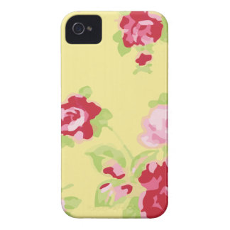 Girly Retro Yellow Floral iPhone 4 Case-Mate Cases