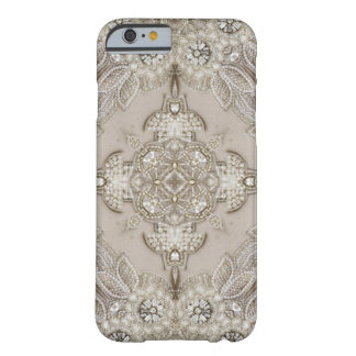 girly Rhinestone lace pearl glamorous Barely There iPhone 6 Case