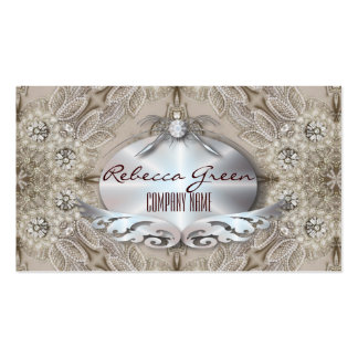 girly Rhinestone lace pearl glamorous Pack Of Standard Business Cards