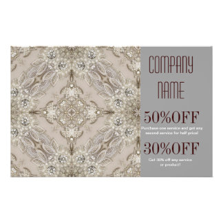 girly Rhinestone lace pearl glamorous 14 Cm X 21.5 Cm Flyer