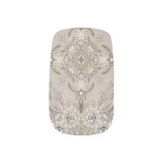 girly Rhinestone lace pearl glamorous Nail Wraps