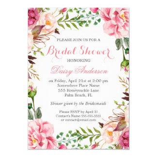 Girly Romantic Floral Wrap Wedding Bridal Shower 13 Cm X 18 Cm Invitation Card
