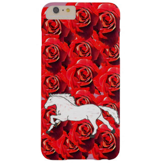 GIRLY ROMANTIC HORSE IN A FIELD OF ROSES BARELY THERE iPhone 6 PLUS CASE