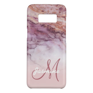 Girly Rose Gold Marble Name Initial Personalized Case-Mate Samsung Galaxy S8 Case