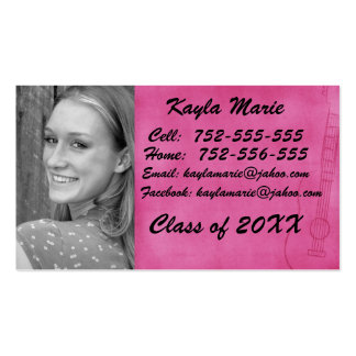 Girly senior 411 card pack of standard business cards