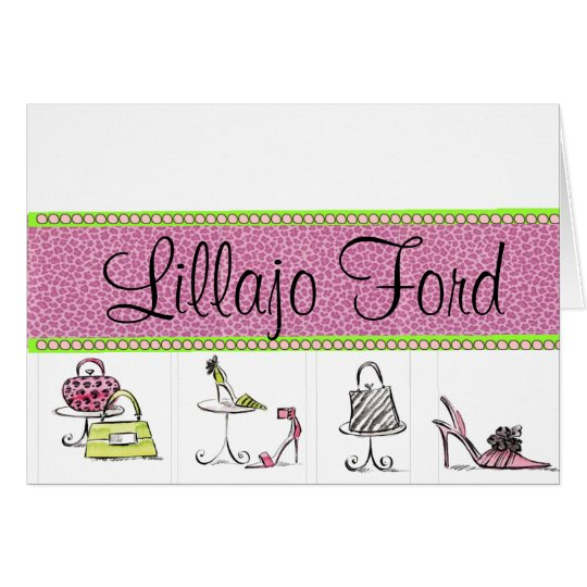 Girly Shoes and Purses Card