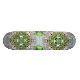 girly Silver teal Diamond chic bling Skateboard Deck
