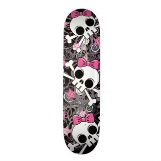 Girly Skull and Crossbones Skateboards