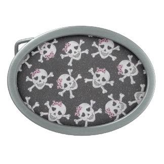 Girly Skull Belt Buckle