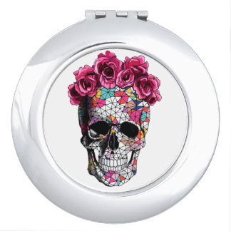Girly Skull Compact Mirror