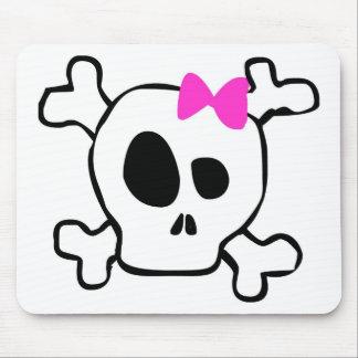 Girly skull mouse mat