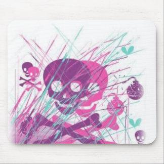 Girly Skulls Mouse Pad