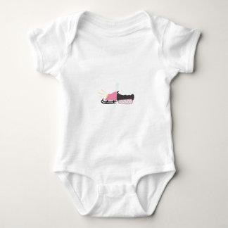 Girly Snowmobile Baby Bodysuit