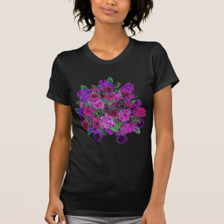 Girly Soft Pink with Pretty Purple Flowers Shirt