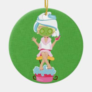 Girly Spa Girl Christmas Ornament