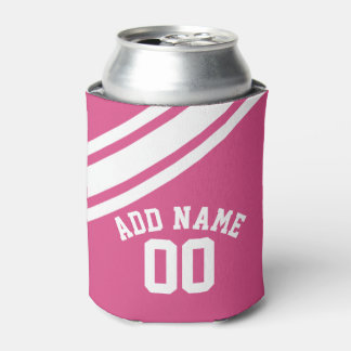 Girly Sports Jersey Custom Name Number Can Cooler