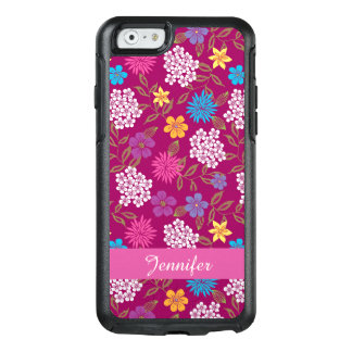 Girly Spring and Summer Wild Flowers, magenta name OtterBox iPhone 6/6s Case