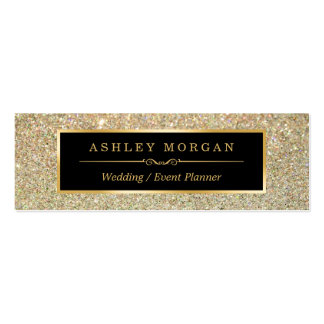 Girly Stylish and Fashion Beauty Gold Glitter Pack Of Skinny Business Cards