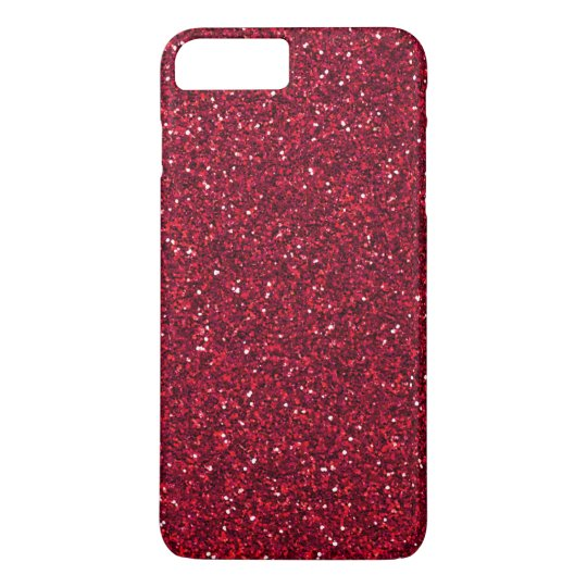 Girly Stylish Red Glitter iPhone 8 Plus/7 Plus