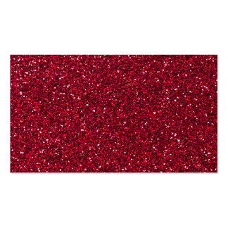 Girly Stylish Red Glitter Photo Print Pack Of Standard Business Cards