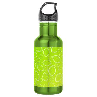 girly summer fresh green yellow lemon pattern 532 ml water bottle