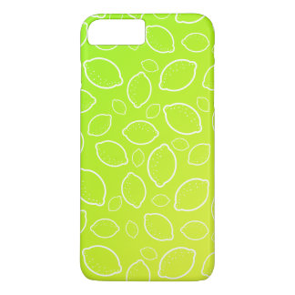 girly summer fresh green yellow lemon pattern iPhone 8 plus/7 plus case