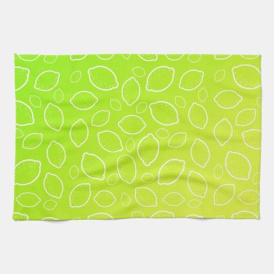 girly summer fresh green yellow lemon pattern tea