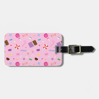 Girly Sweet Candy Pattern For Girls Luggage Tag