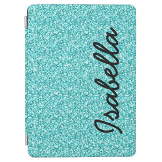 GIRLY TEAL GLITTER PRINTED PERSONALIZED iPad AIR COVER