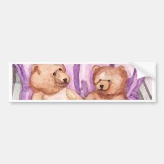 Girly Teddy Bear Talk Purple Lilac Grey Lavender Bumper Stickers