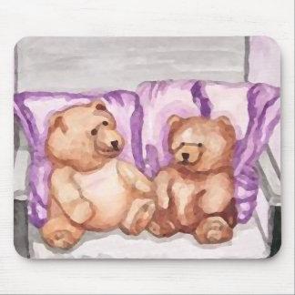 Girly Teddy Bear Talk Purple Lilac Grey Lavender Mouse Pad