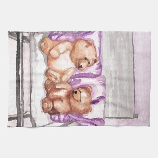 Girly Teddy Bear Talk Purple Lilac Grey Lavender