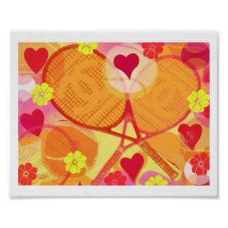 Girly Tennis Poster With Channel Tennis Raquest