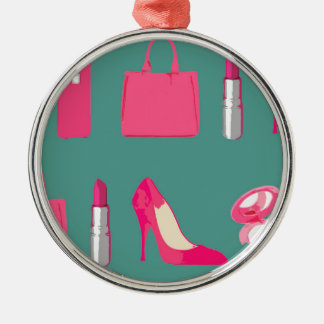 Girly things design christmas ornament
